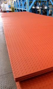 カラー縞鋼板定尺製品在庫および製品重量(1枚あたり/kg)