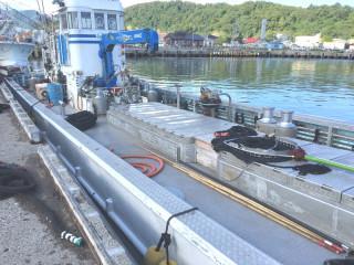 縞板-漁船②